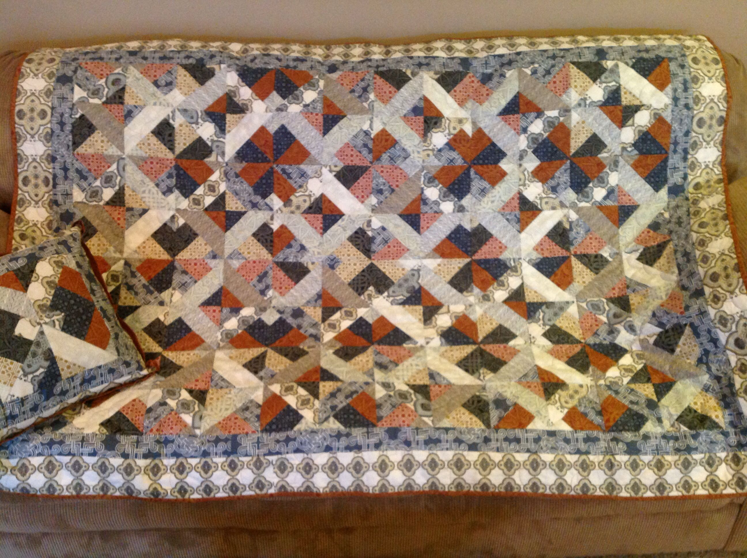 Quilt Using Jelly Roll Pattern By 3 Dudes From Missouri
