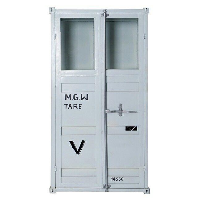 Armoire 2 Portes Vitrees Style Container Armoire 2 Portes Porte Vitree Meuble Design