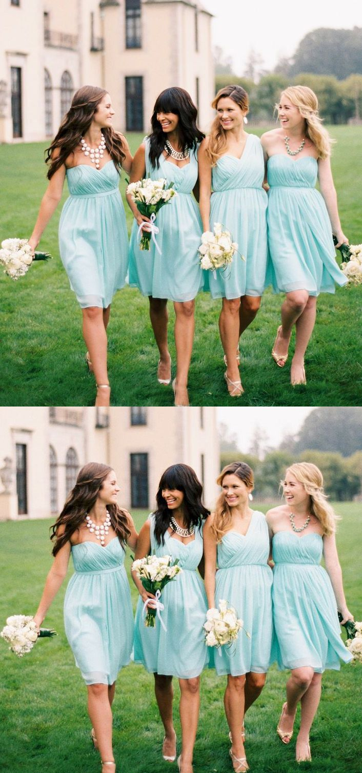 Customized kneelength bridesmaid dress short sage dresses with