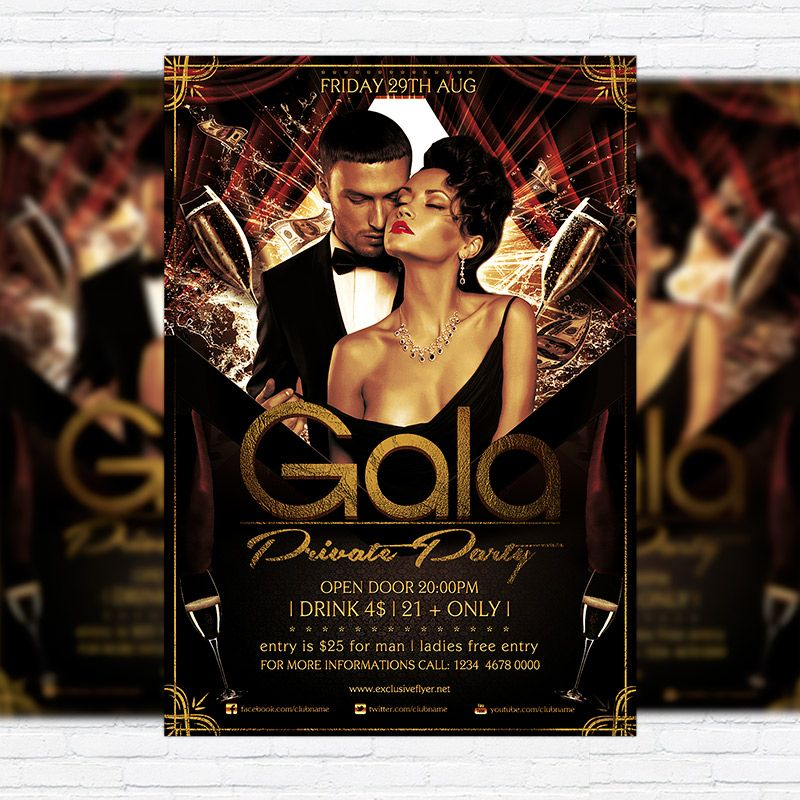 Gala Private Party  Premium Flyer Template  Facebook Cover Http