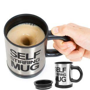Plain Lazy Self-Stirring Mug...No way! [Technology in the Kitchen]