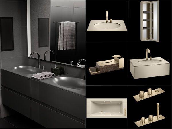 La Roccia Mobili Bagno.Armani Rocca Sanitary Bathroom Design Bathroom Mirror Lighted