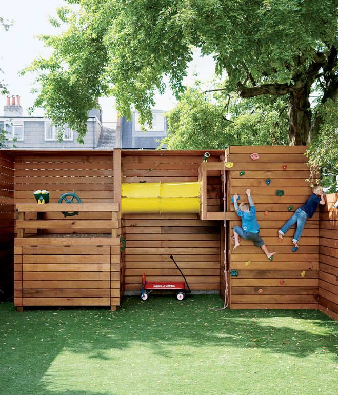 backyard play area for small yards we have joked about turning the front wall of our house into a climbing wall for us be pretty sweet find this pin and