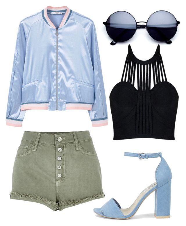 """""""Bomber look n° 1 !"""" by shanarevival on Polyvore featuring mode, MANGO, Nly Shoes, River Island et Posh Girl"""