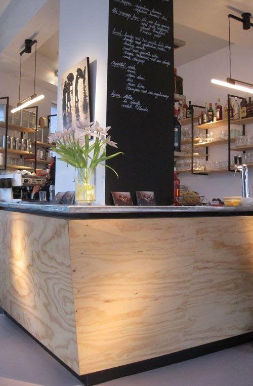 Restaurant-Theke Sperrholz Pinterest Theken, Restaurant und - innenraum gestaltung kaffeehaus don cafe