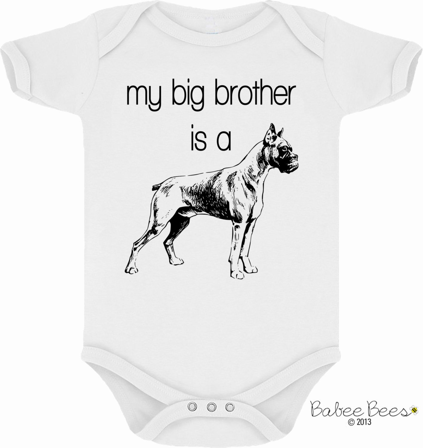 My Big Brother is a Boxer cute way to announce your by BabeeBees