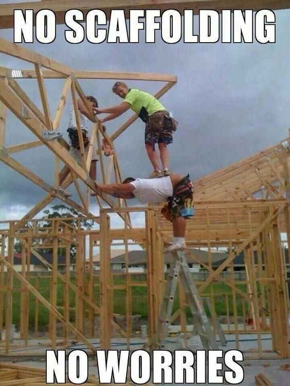 Definitely Don T Try This At Home Or On The Job Site Construction Humor Funny Pictures Dumb And Dumber