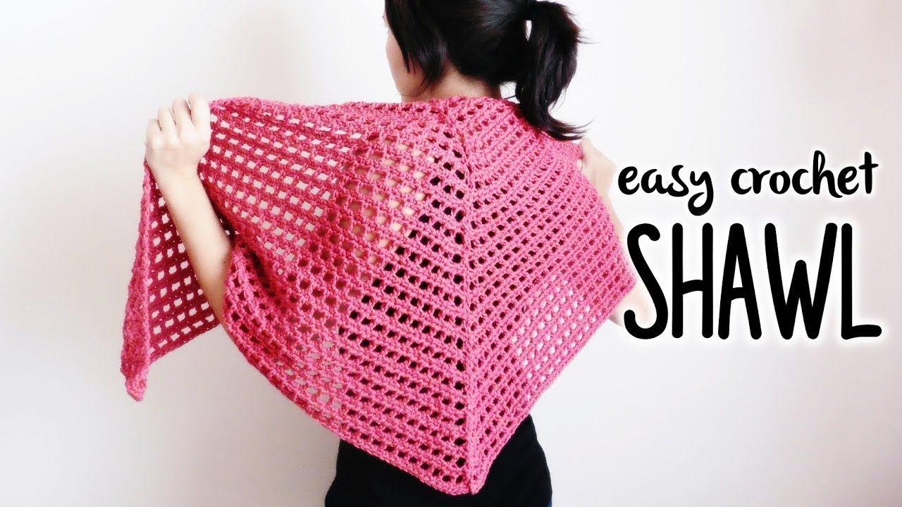 How To Crochet Easy Triangle Shawl Crochet Lovers Youtube