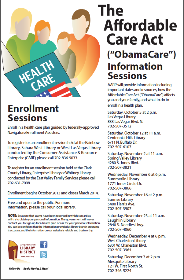 Aca Exchange Informational Meetings At Your Neighborhood Library