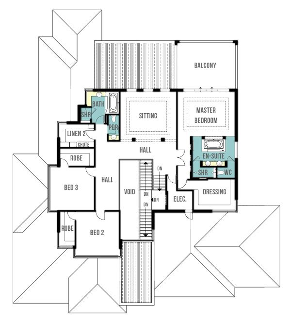 Tiny Home Designs: Woodland Two Storey, Split Level House Plans (first Floor