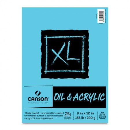 Canson Xl Oil Acrylic Pads Feature A Bleed Proof Canvas Like
