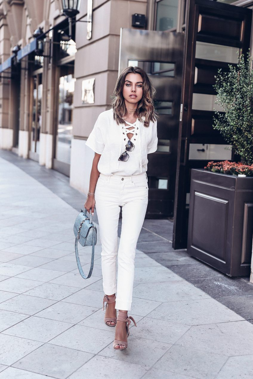 c5ddbafabe Casual summer white outfit + best fitting white jeans