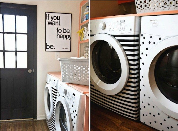 mit klebefolie waschmaschine und trockner aufpeppen diy m bel pinterest laundry laundry. Black Bedroom Furniture Sets. Home Design Ideas