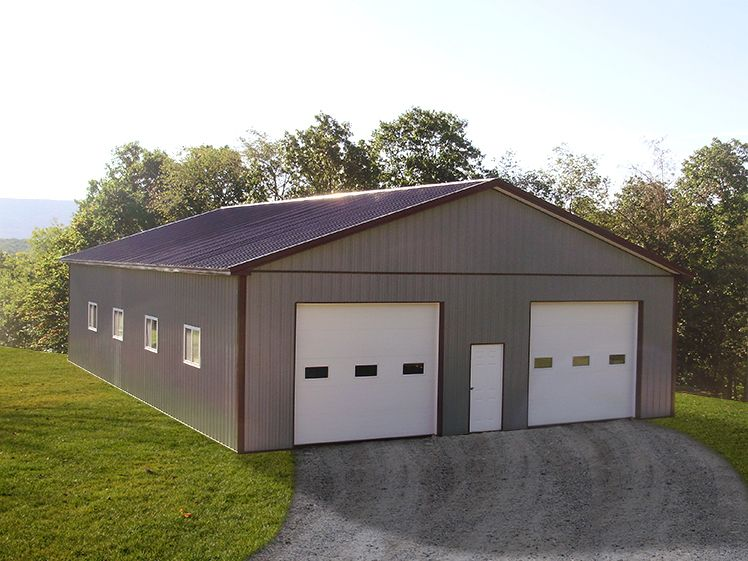 Building dimensions 40 w x 60 l x 12 4 h id 387 for Pole barn dimensions