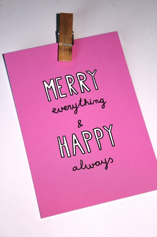 Kaart merry everything & happy always  from studio Stationery www.pippikokel.nl