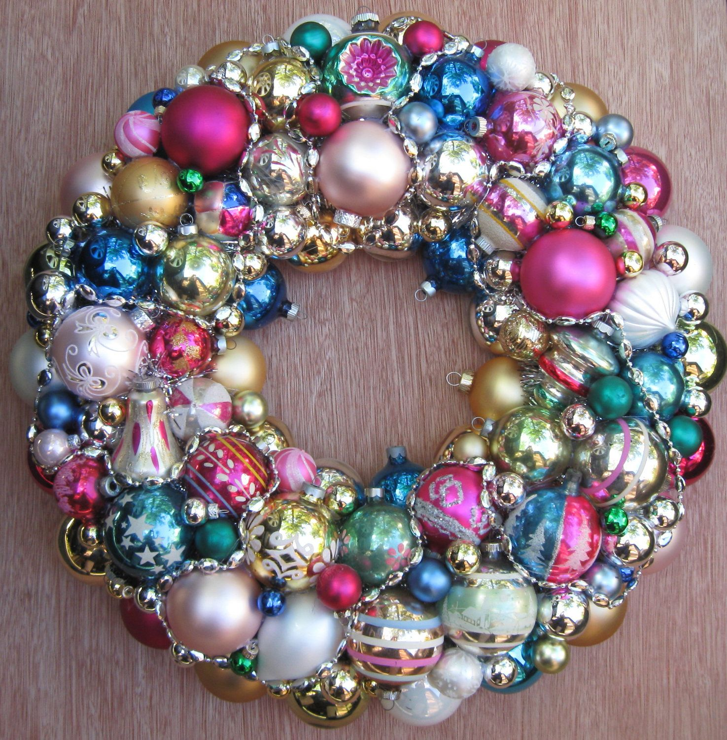 Vintage Christmas Ornament Wreath Perfect for Every day