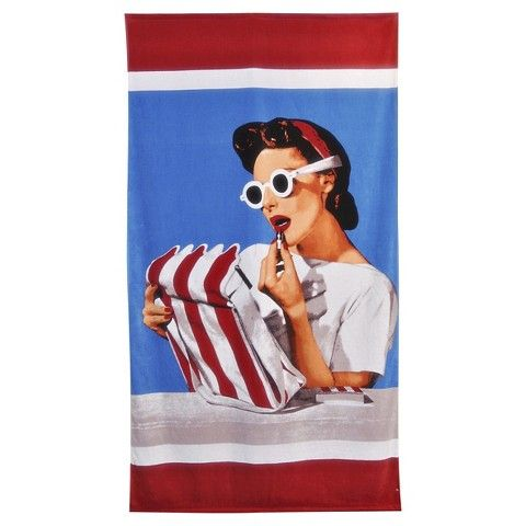 Conde Nast Archive - Lipstick Beach Towel