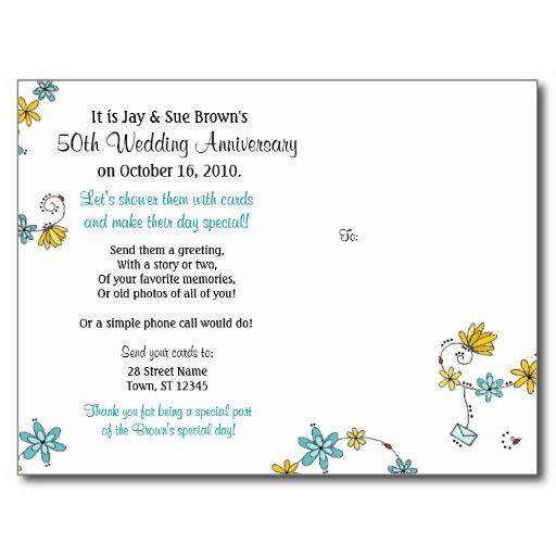 Card Shower Postcard 50th Anniversary Cards 80th Birthday Cards 65th Wedding Anniversary
