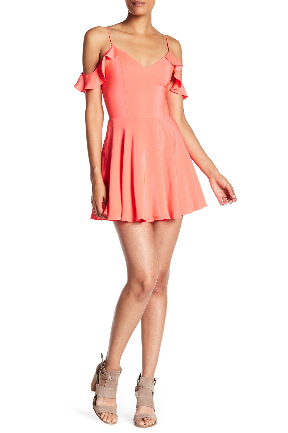 Amanda Uprichard Tate Cold Shoulder Silk Dress | Silk dress, Cold ...