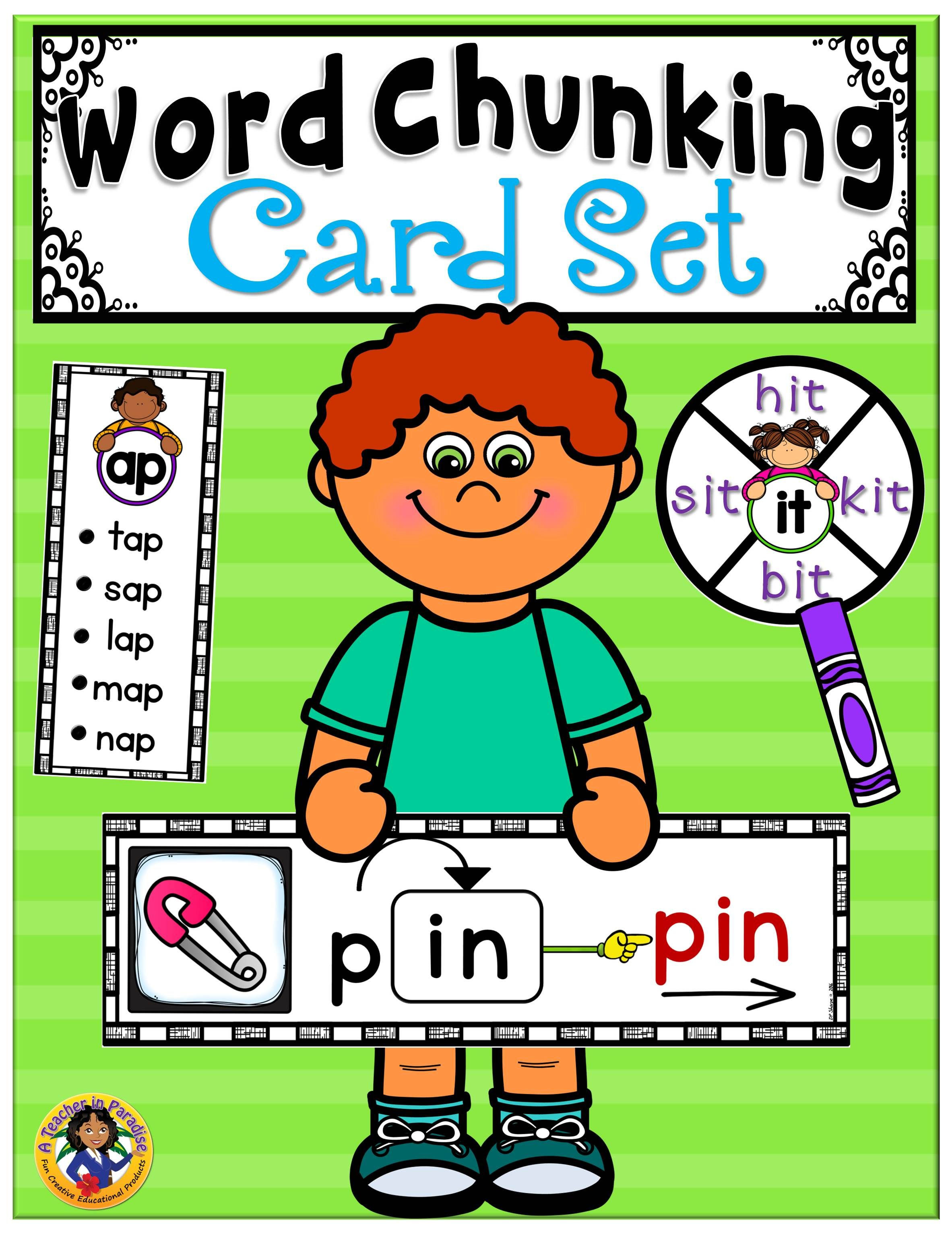 Word Chunking Cards Fun Pack