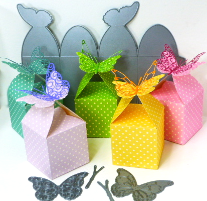 Butterfly Favor Boxes by Jean Okimoto - using Memory Box dies
