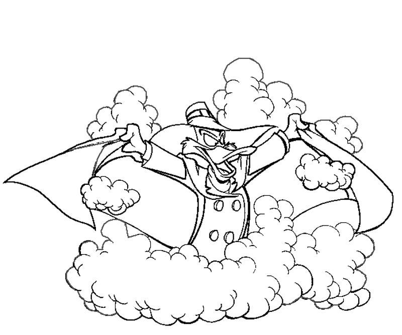 Darkwing Duck Coloring Books Duck Cartoon Coloring Pages