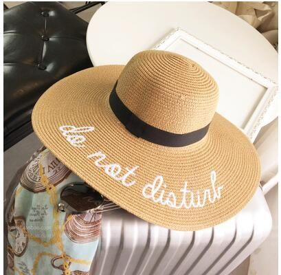 e480a5b5aca Text-On-Top Foldable Straw Hat