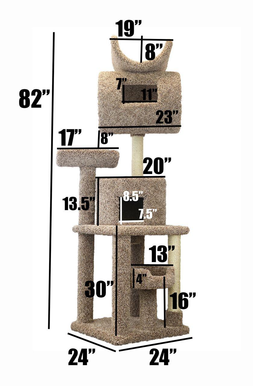 Prestige Cat Trees 7 Foot Tall Carpeted Cat Tree Cat Tree Cat Tree House Cat Tower