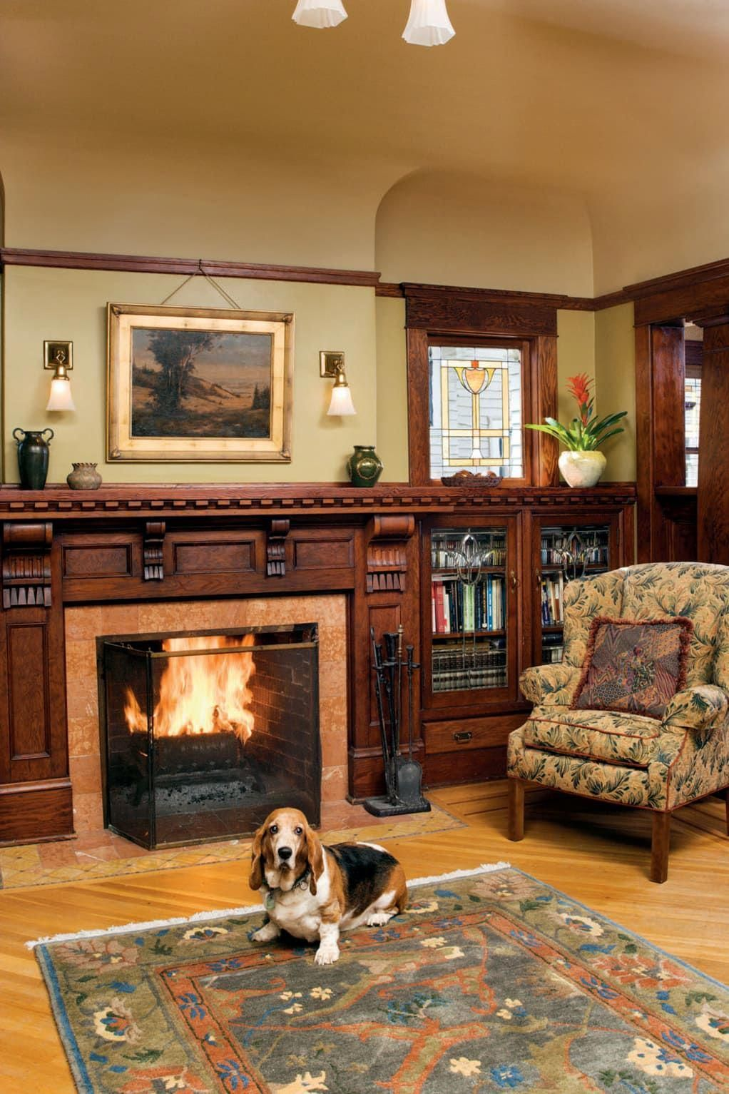 Inside a Craftsman Foursquare #craftsmanstylehomes