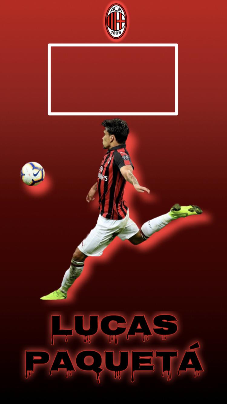 ルーカス パケタ Lucas Paqueta Milan Iphoneロック画面用 Acミラン ミラン ルーカス