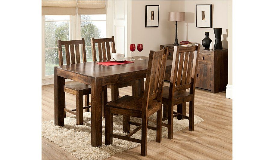 Goa Medium Dining Table And 4 Chairs 145cm Dining Table Chair Sets George At Asda Dining Table Chairs Table And Chair Sets Dining