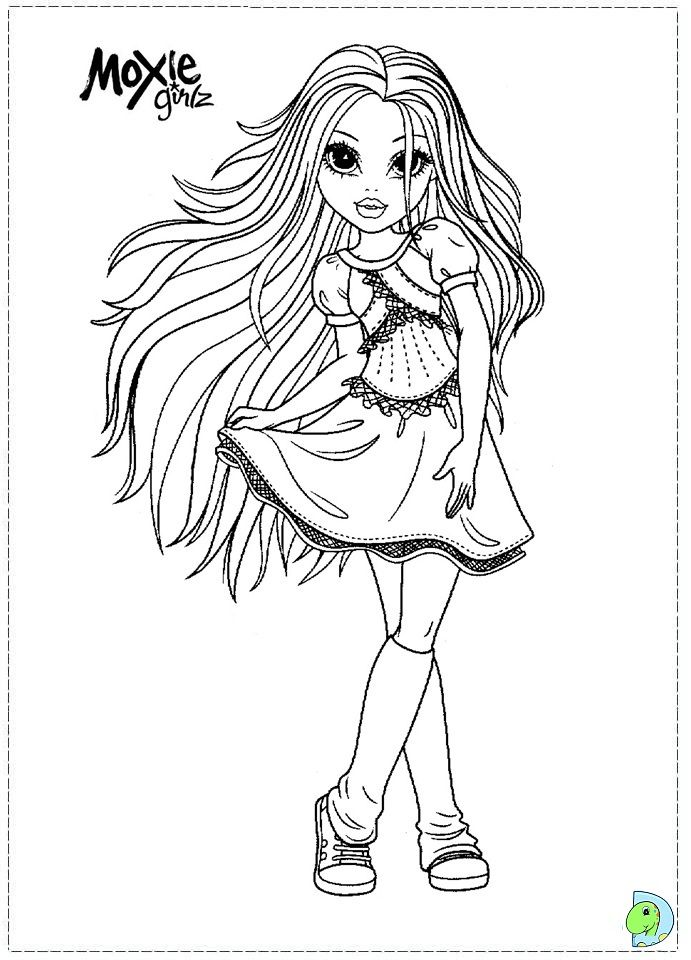 moxie girlz colouring page coloring pages for