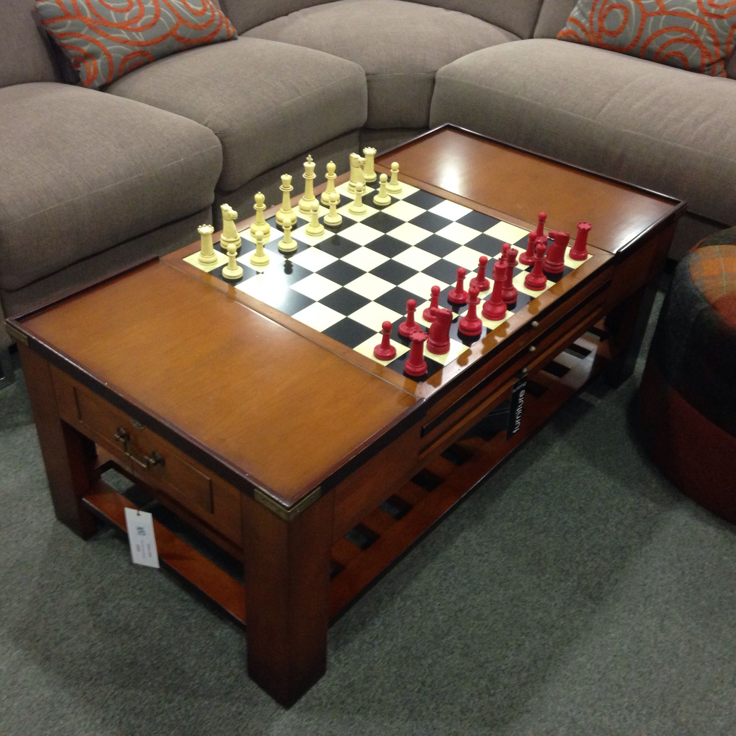 The best chess board backgammon card playing coffee table ever