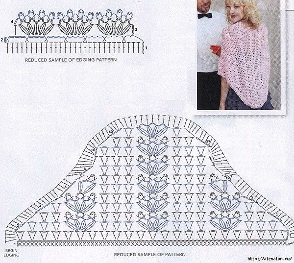 Lacy shawl uses shells & V-stitches #crochet #wrap   crochet ...