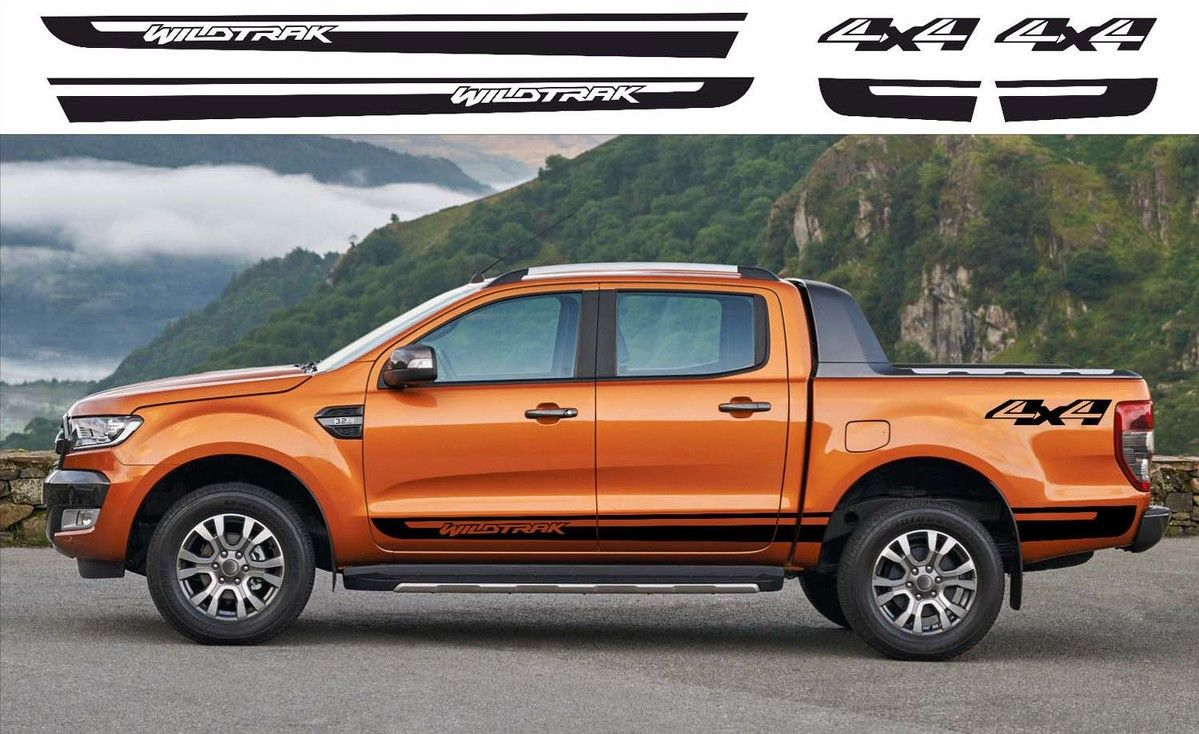 Product Ford Ranger Wildtrak 4x4 Side Vinyl Decals Graphics Rally Sticker Kit Ford Ranger Wildtrak Ford Ranger Ford Ranger Price