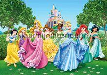 AG Design FTD 2207 van AG Design glitter prinsessen bij kasteel fotobehang bij kleurmijninterieur.nl