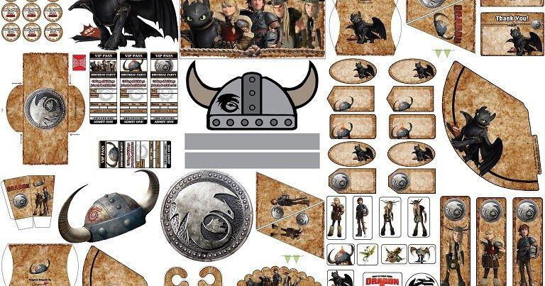 Lindos Dragones Para Imprimir: Lindo Kit Para Imprimir Gratis Para Tus Fiestas De Cómo