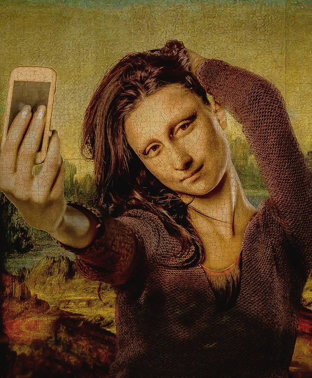 Mona Lisa Mona Lisa Mona Lisa Parody Funny Art