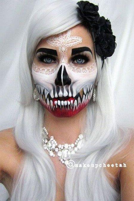 Beautiful Halloween Makeup Bride Images - harrop.us - harrop.us