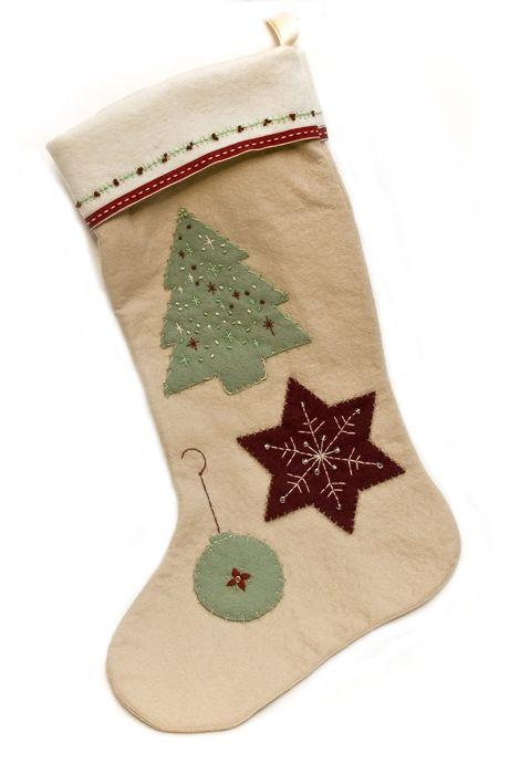 handmade christmas stocking by nutmeg and sage western. Black Bedroom Furniture Sets. Home Design Ideas