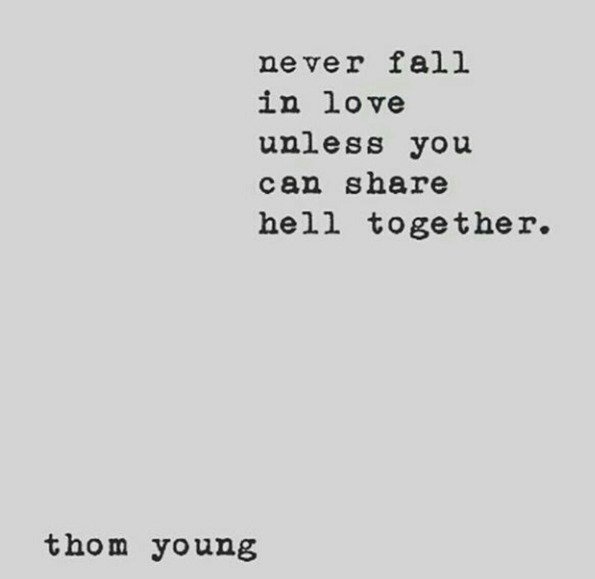 never fall in love quotes