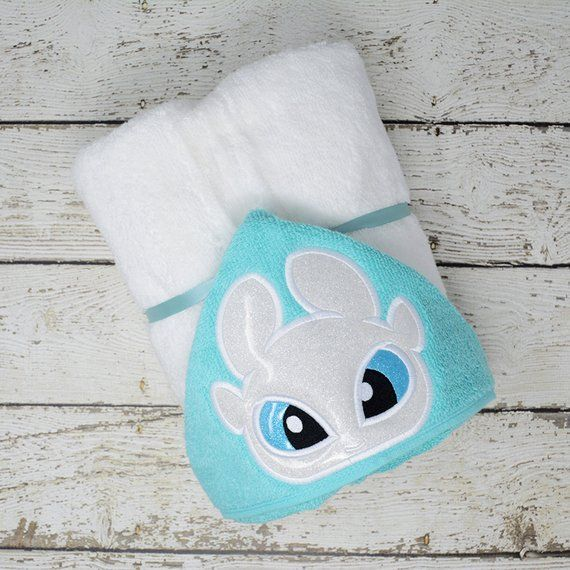 White Dragon Children S Hooded Towel Baby Towel Childrens Hood