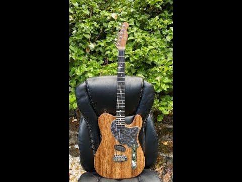 Zizzy Martian Zebrawood Guitar Build Part 1 Body Blank