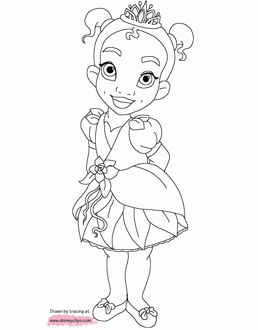 Disney Princess Coloring Pictures Unique Baby Disney Princess Tiana Coloring Pages Disney Coloring Pages Disney Princess Coloring Pages Princess Coloring Pages