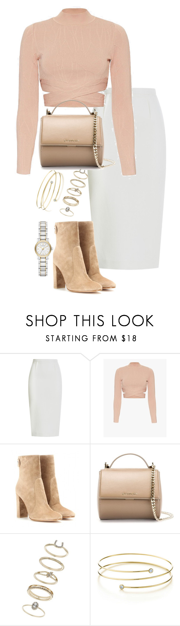 """""""Untitled #1872"""" by ritavalente ❤ liked on Polyvore featuring Roland Mouret, Jonathan Simkhai, Gianvito Rossi, Givenchy, Miss Selfridge, Elsa Peretti and Burberry"""