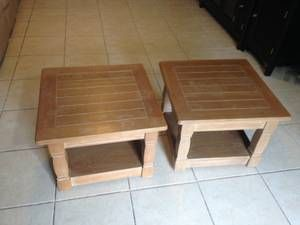 End Tables With 2 Levels On Wheels For Sale Sarasota Furniture