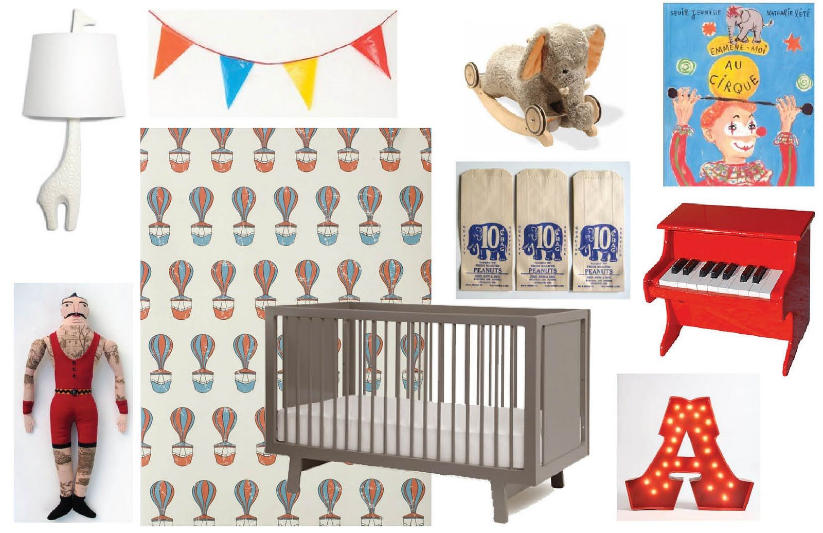 Circus Themed Nursery, I Like This Idea With A Vintage Theme. Hmmm..