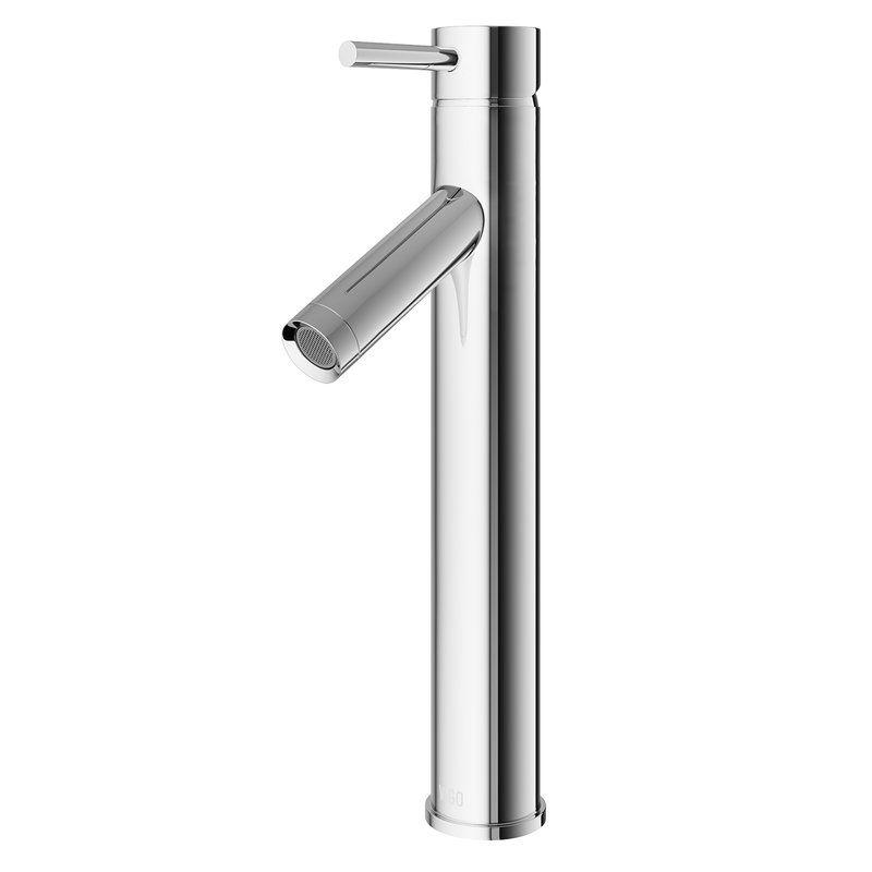 VIGO Dior Single Hole Bathroom Faucet with Optional Drain Assembly