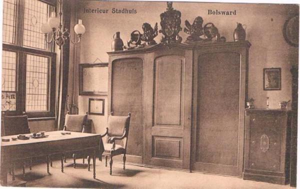 Bolsward jaren \'20. Interieur van het Stadhuis. - huntingad.com ...