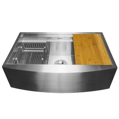 33 X 20 Farmhouse Apron Stainless Steel Double Bowl 60 40